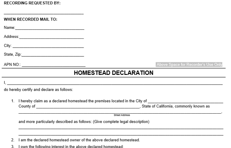 what is a homestead declaration ryan cruz law apc
